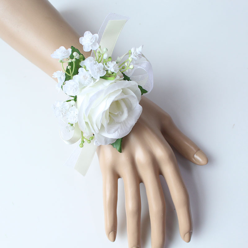 wrist flower bridesmaid wedding wrist corsage (11)
