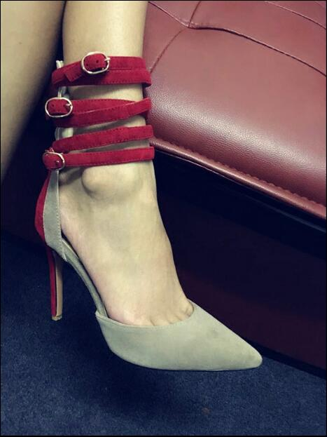 Newest Fashion Women Shoes Cheap Price Hot Selling Luxury Gorgeous Elegant Noble Buckle High Thin Heels 10cm Sexy Mixed-color women sandals newest fashion cheap price best quality hot selling new designer luxury special noble ankle buckle mixed color