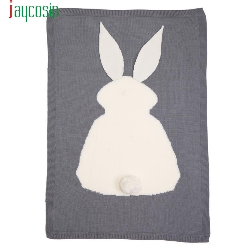 Niños conejo tejido manta Ropa de cama edredón juego manta animal ...