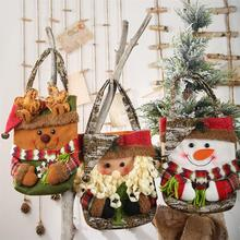 Christmas Storage Bag Santa Snowman Elk Bear Candy Apple Gift Bag