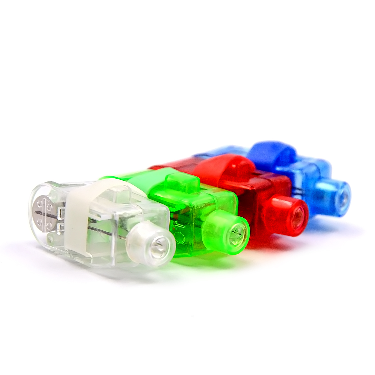 4 PCS Mixed Color Led Finger Flashlight Light Lamp Toy For Party Birthday Christmas Decorations