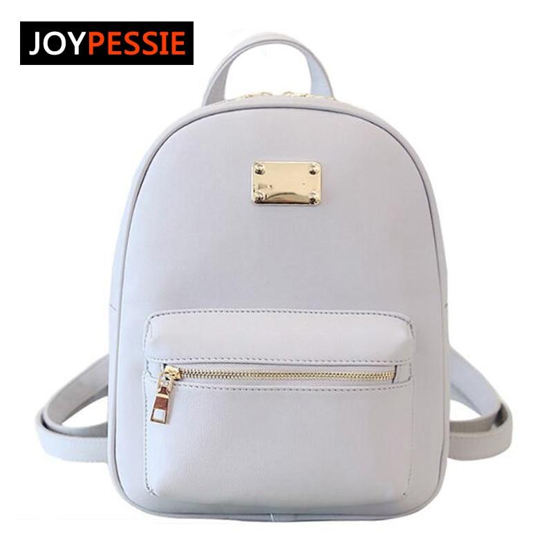 Joypessie 2016 Fashion Female PU women backpack casual preppy leather Black Backpacks Female Girls school Bags Ladies Backpack