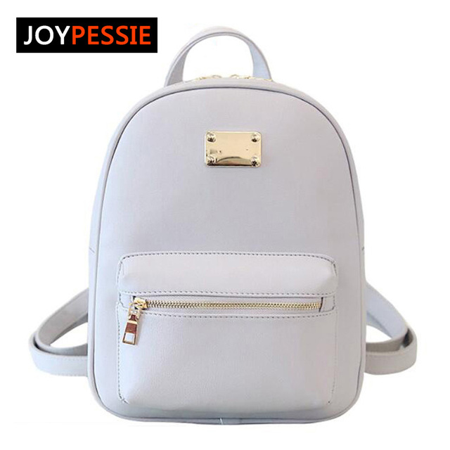 Joypessie 2016 Fashion Female PU women backpack casual preppy leather Black Backpacks Female Girls school Bags Ladies Backpack