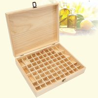 72 Holes Wooden Essential Oils Storage Box Aromatherapy Natural Pine Wood Handmade Without Paint Accessories