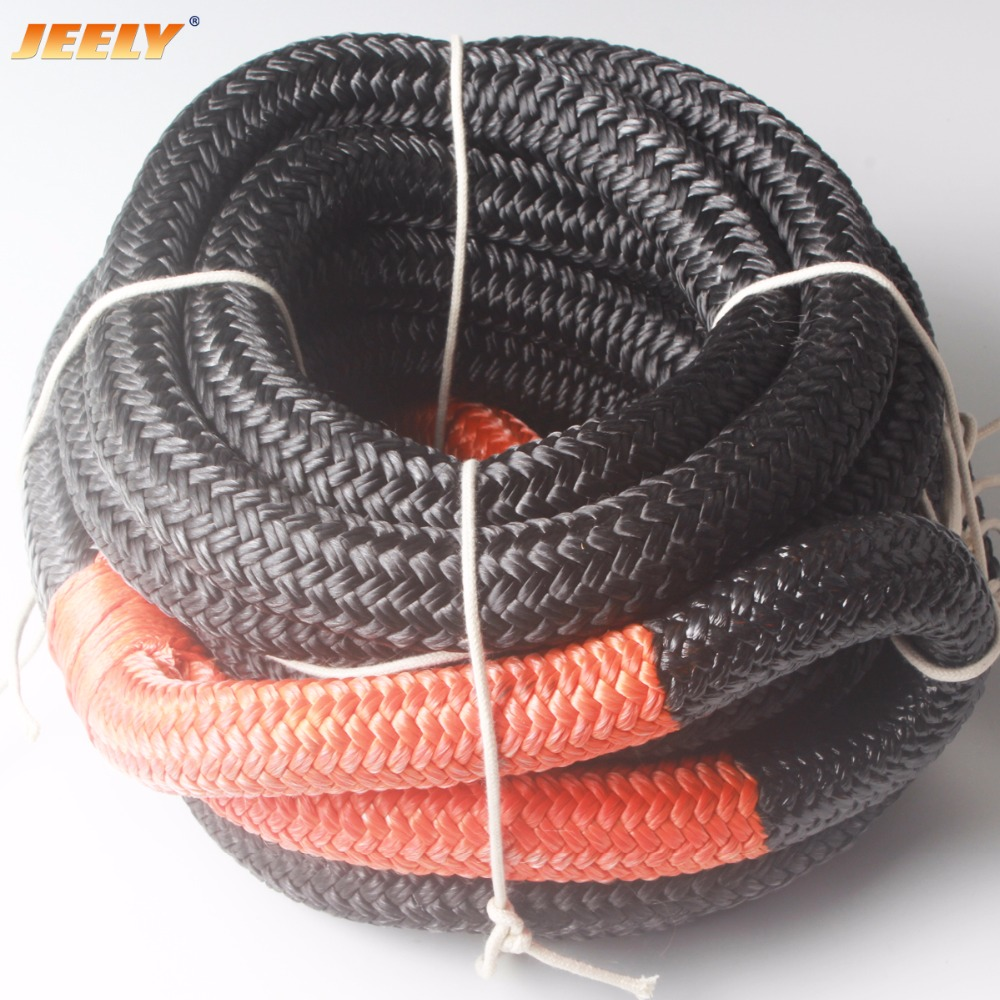 Free Shipping 25mm 9m 1inch 30ft Double Braided Kinetic Rope Synthetic Winch Rope