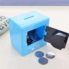 Cofre de moeda com senha, cofre para guardar moedas de dinheiro 30