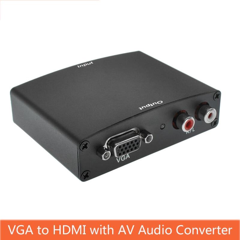 VGA Zu HDMI Converter Audio Video Sync Output With AV Audio R/L Power HD Converter Computer Vga Signal Input To Hdmi