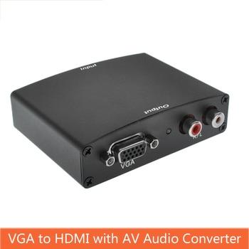 VGA Zu HDMI Converter Audio video sync output With AV Audio R/L Power HD Converter Computer vga Signal Input to hdmi проектор other 1200lumens hdmi av usb vga uc30