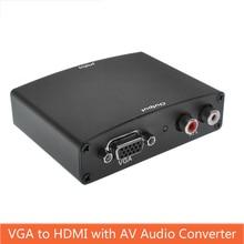 VGA zu HDMI Converter Audio video sync output With AV Audio R/L Power HD Converter Computer vga Signal Input to hdmi цена и фото
