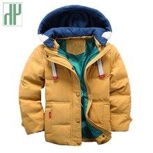 HH veste dhiver à capuche pour enfants, manteau dautomne pour garçons et filles, costume de neige en velours, vêtements dextérieur pour enfants de 3 4 5 8 10 ans