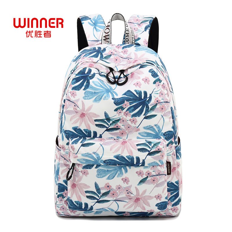WINNER Women Backpacks Floral Print Bookbags Canvas Backpack School Bag For Girls Rucksack Female Travel Backpack Mochila 2018 backpack top quality hot sales canvas mini floral women girls kids cheap coin pouch compact elegant mochila 17apr25