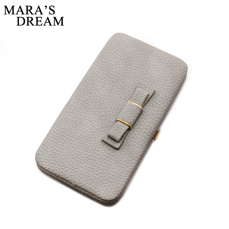 Mara's Dream High Quality Colorful bowknot pendant PU Leather Long Design Women Wallet Coin Purse Ladies Handbag Day Clutch Bag 2017 brand new cute bowknot purse handbag for women pu leather fashionable wallet zipper high quality free shipping p375