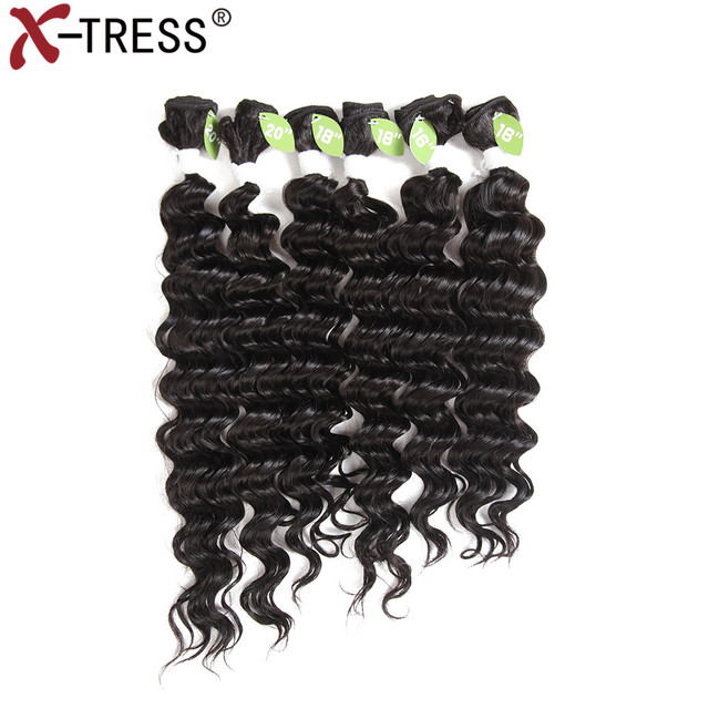 X Tress Blend Hair Weaves 16 20 Inch 6pcsset Synthetic Hair And