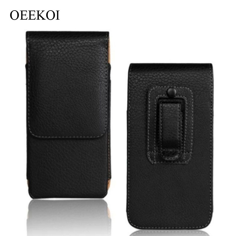 Oeekoi Belt Clip Pu Leather Waist Holder Flip Cover Pouch Case For Lava P7/x11/a88/a71/pixel V2/flair Z1/icon 5 Inch Cellphones & Telecommunications