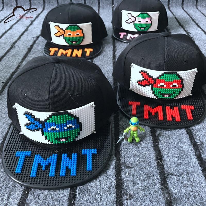 ninja turtle baseball hat teenage mutant turtles caps new mosaics blocks hats cap hip hop classic