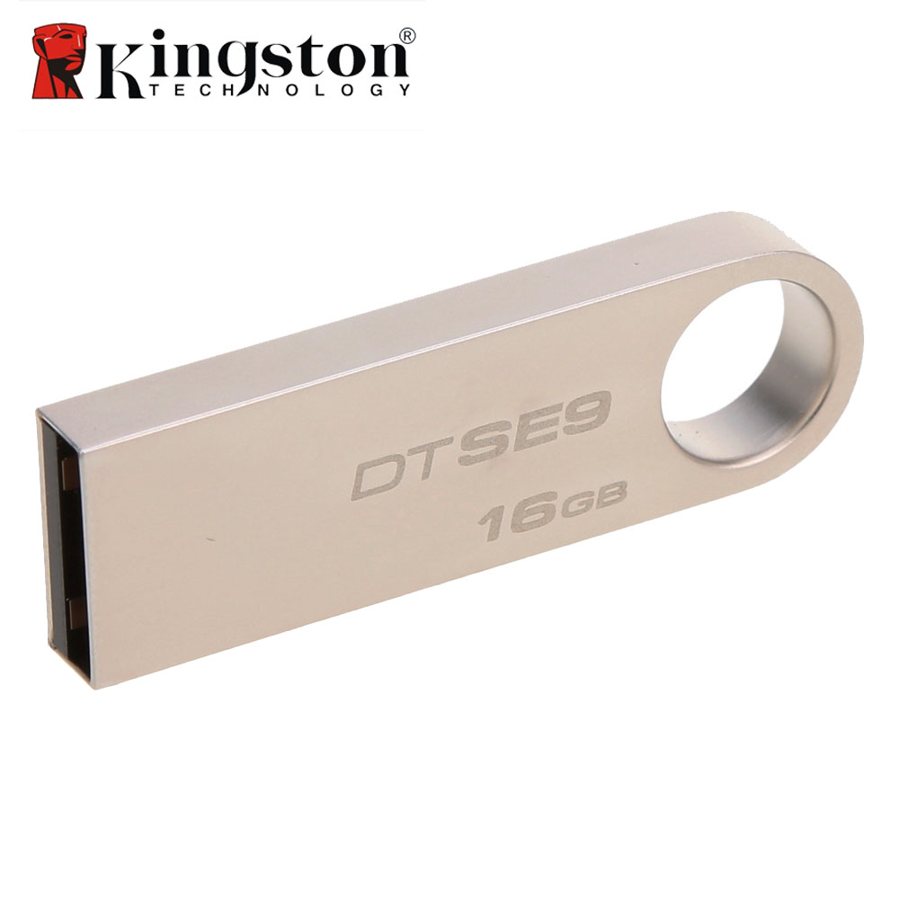 все цены на Kingston 2Pcs/Lot 8G 16G 32G USB Flash Drive High Speed Data USB 2.0 DTSE9 USB Stick Pendrive Metal USB Flash U Disk Pen Drive онлайн