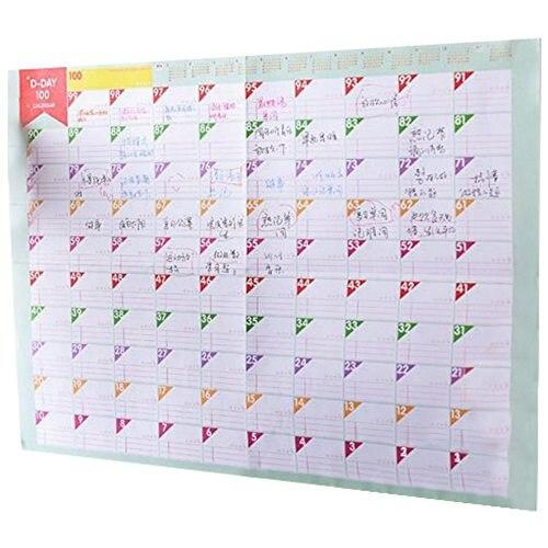 Gut 3 Blätter Plan Papier 100 Tage Countdown Zeitplan Wandkalender Täglich Wöchentlich Monate Planer Ziele Organizer Für Arbeit/studie/verlieren Modische Muster Office & School Supplies