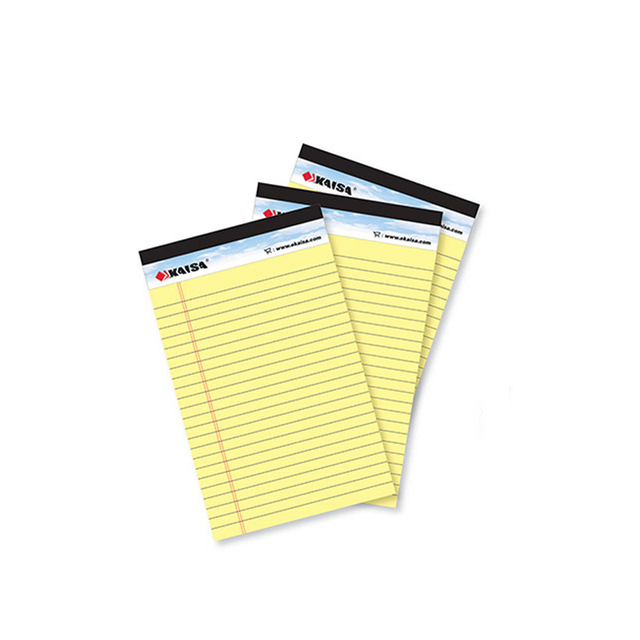 Writing pad Memo Pad USA style Legal pad A5 50 sheets* 3PCS notepad paper Office School Supplies Notebooks Writing Pads