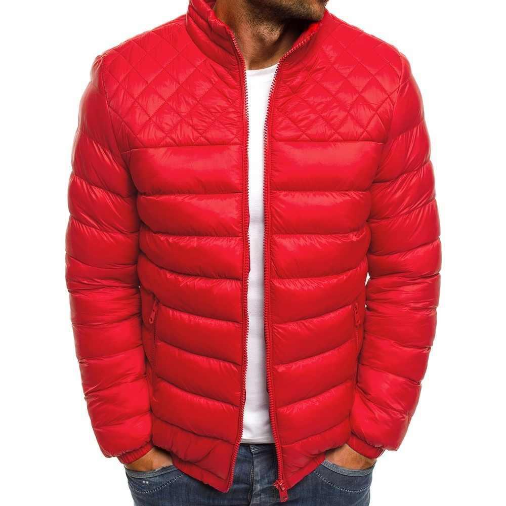 ZOGAA 男性冬服 2018 バブルコートカジュアルストリート 4 色ジッパースタンドフグジャケットプラス Size3XL パーカー男性