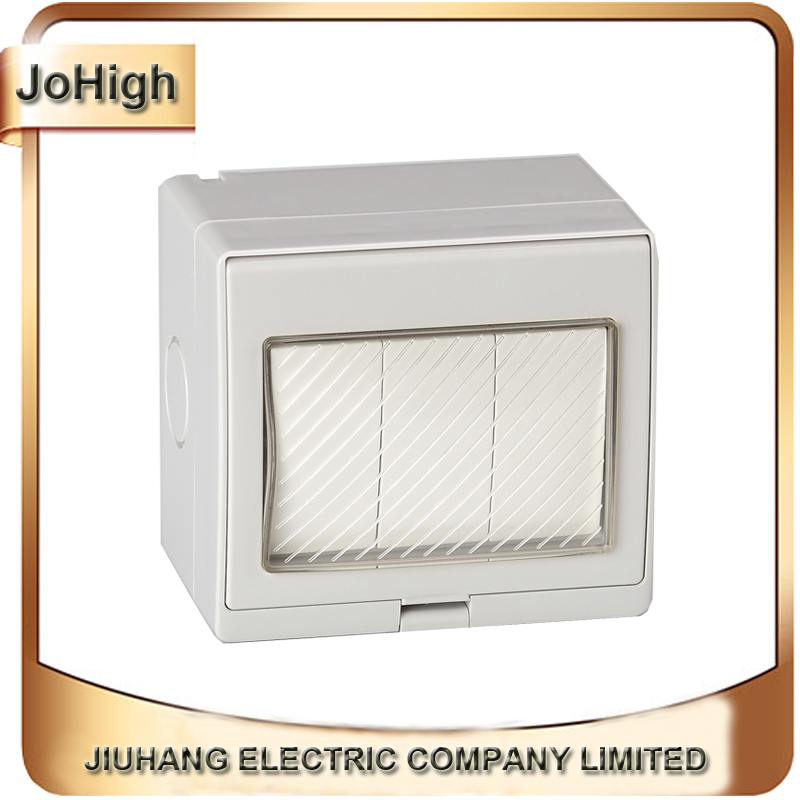 Free Shipping High Quality Surface Mounted Waterproof Wall Switch 3 Way 20A/250v Universal Waterproof Wall Switch