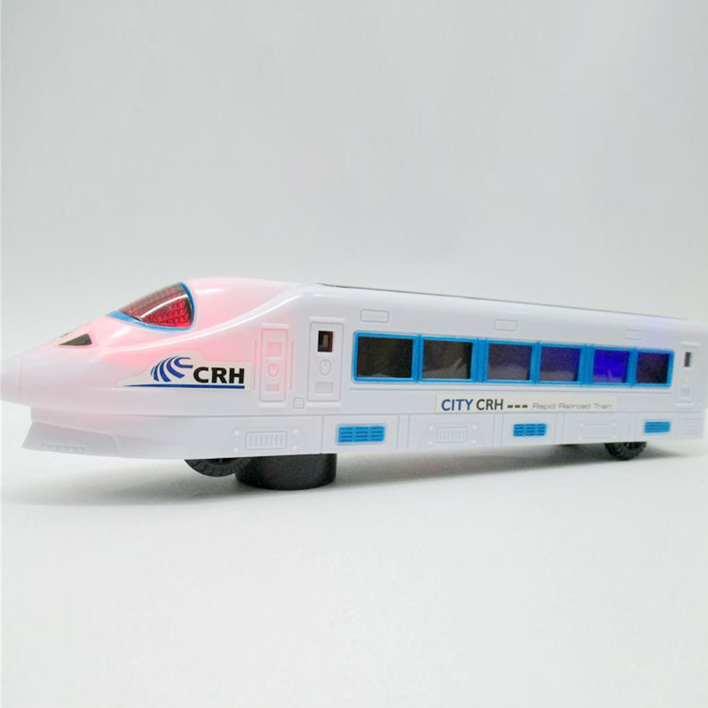 Electric Bullet Train Toy LED Flashing Lights Sounds Vehicles Train Model Remote Control Toys Child Kids Birthday Christmas Gift electric air bus model toys moving flashing led light sounds kids toy assembling aircraft children gift a380 airbus music toy