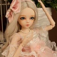 Розовое платье принцессы BJD куклы ручной работы Невеста красивая одежда 60 см смолы куклы для девочек подарок на день рождения игрушки BBGirl SD