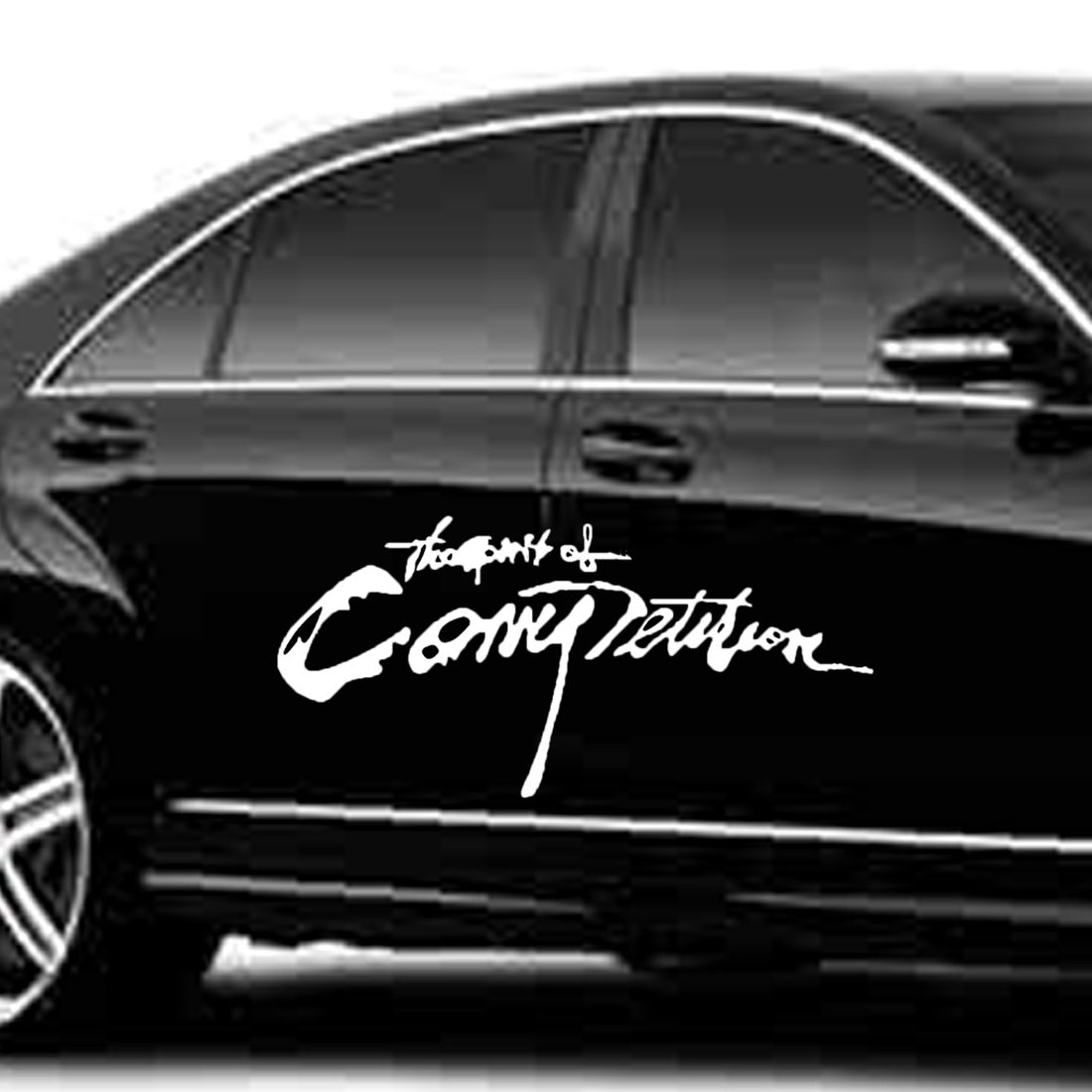 Dewtreetali 2018 Hot Sale Car Styling Sticker The Spirition of Competition Car Stickers Vinyl Decal Waterproof 28*13cm