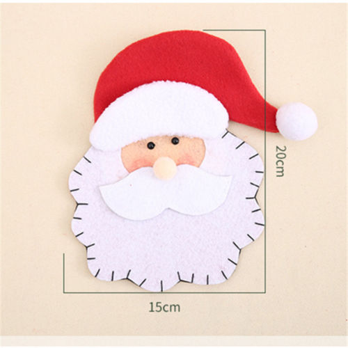 Christmas Santa Claus Tableware Silverware Suit Bag Dinner Setting Decor ...