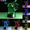 Toy Gift Pokemon Series Another Pikachu Image 7 Colors 3D LED Night Light Table Lamp Xmas Gift