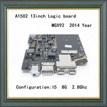 "Original Laptop Logic Board for MacBook Pro Retina A1502 Motherboard 13"" I5 8G 2.8Ghz 2014 year MGX92"