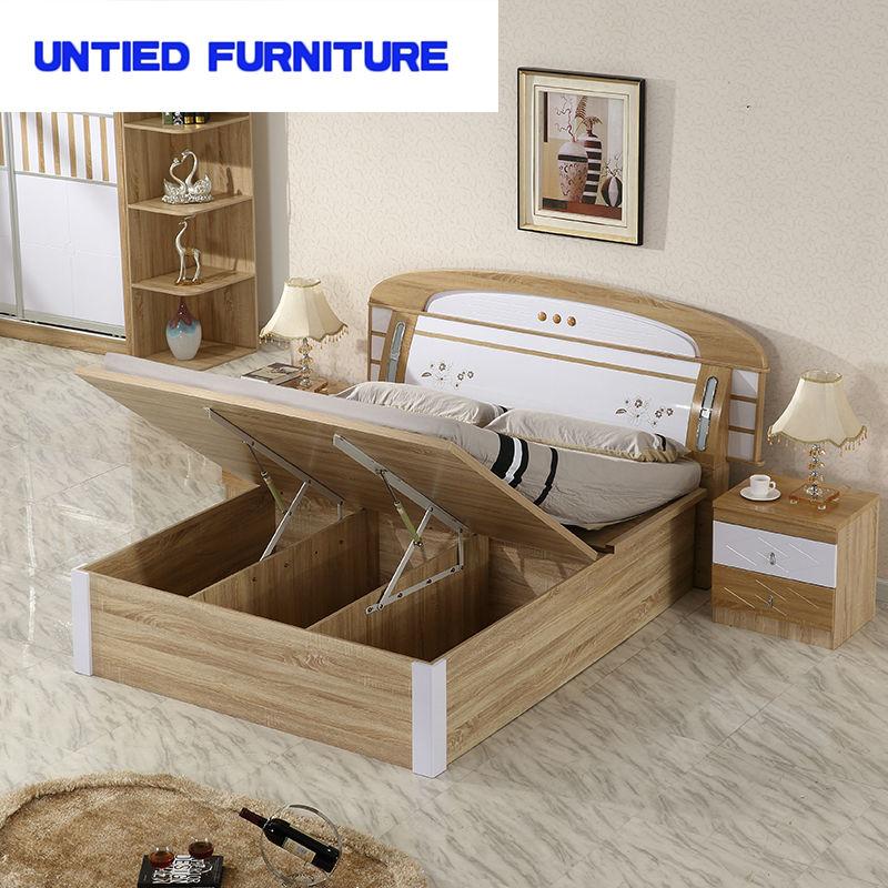 . MDF White High Gloss Furniture Bedroom Set Furniture Bed