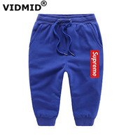 VIDMID Cotton Children Cargo Pants For Baby Boys Girls Trousers Kids Child Casual Pants Boys Girls