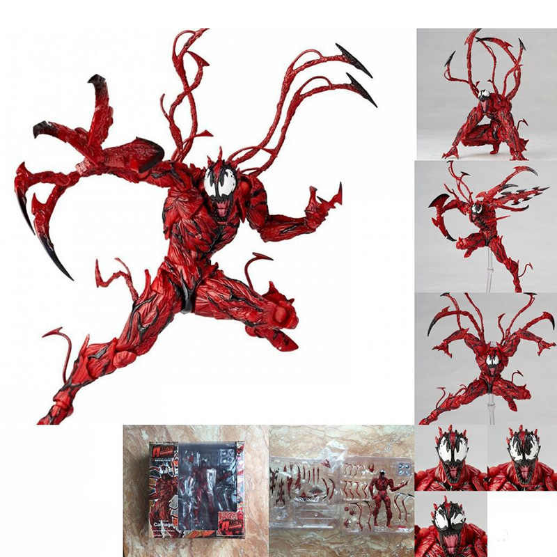 2018 NEW Marvel Red Venom Carnage in Movie The Amazing Spiderman BJD Joints Movable Action Figure Model Toys Kids toys