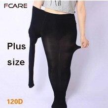 159692498 Fcare Grande big size primavera meias outono 120d meia-calça senhoras plus  size M ao XXXL tamanho grande meia-calça