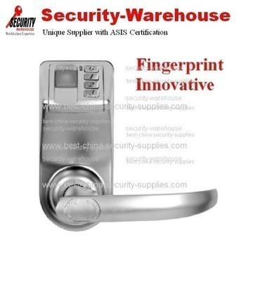 Adel 3398 Biometric Fingerprint + PIN Keyless Lock for Single Door Handle Silver