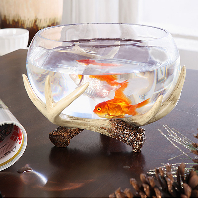 Decorative Fish Bowls Best New Creative Deer Horn Glass Fish Tank Aquarium Fish Tank Fish Bowl