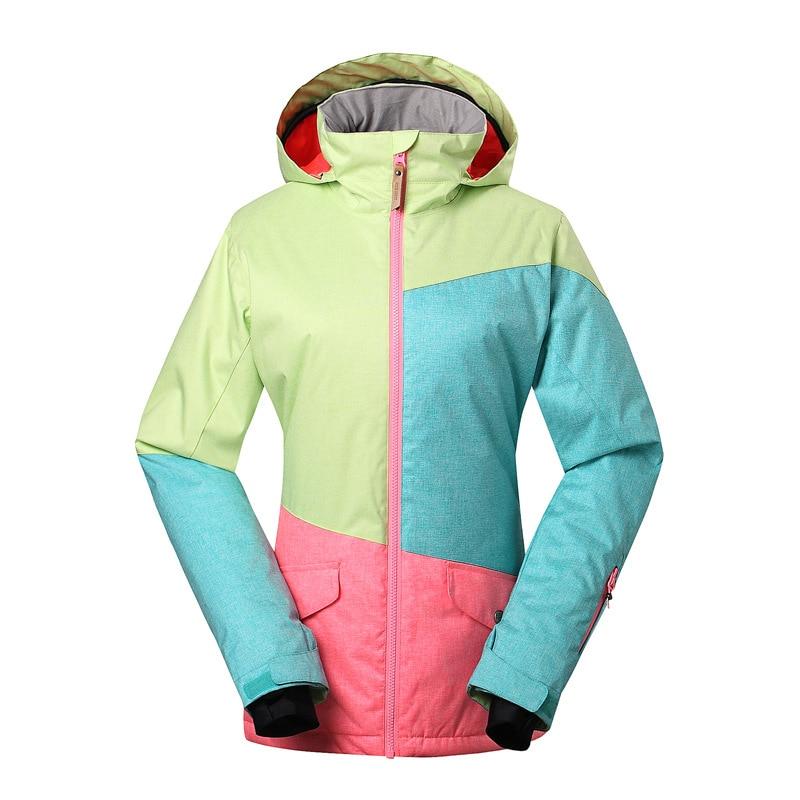 GSOU SNOW combinaison de Ski femme simple Double planche Ski extérieur hiver coupe-vent chaud imperméable veste manteau de Ski pour les femmes