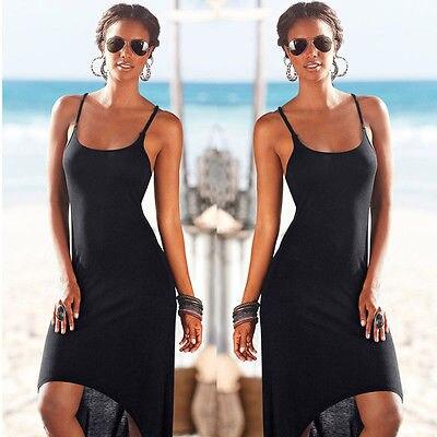2016 Sexy Celeb Women Dress Backless Maxi Summer Beach Dress Evening Black Dress
