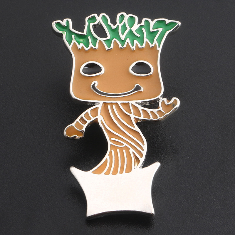 Guardians of the Galaxy Character image brooch High quality ents Groot Zinc Alloy CARTOON collection toys