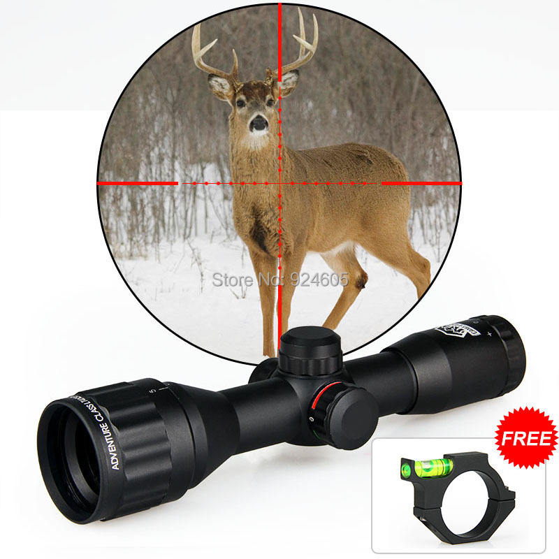 Canis Latrans 4X32 Mini Double Color Rifle Scope For Hunting With 11MM Mount HS1-0140 цена