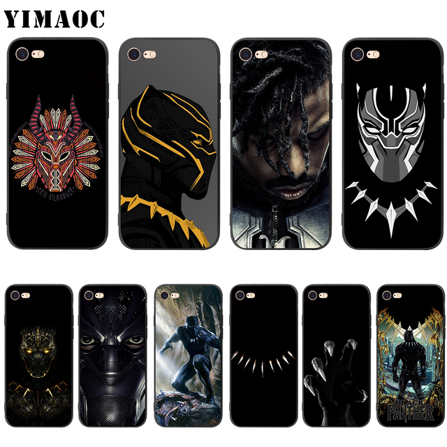separation shoes b3a72 8dab1 US $2.5 24% OFF|YIMAOC Black Panther Erik Killmonger Soft Silicone Case for  iPhone XS Max XR X 8 7 6 6S Plus 5 5s se-in Fitted Cases from Cellphones &  ...