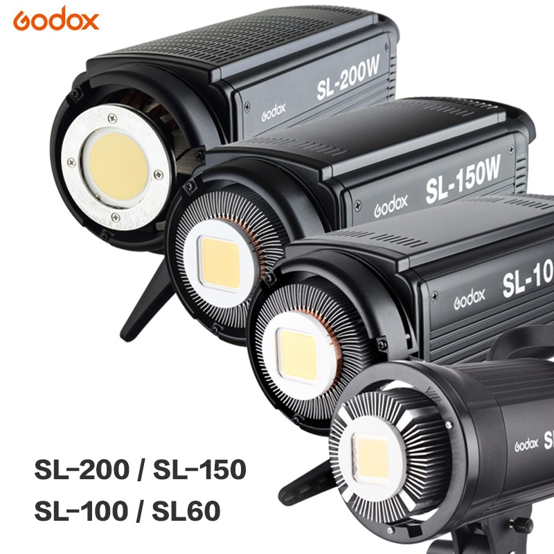Godox LED Video Light SL-60W SL-100W SL-150W SL-200W 5600K Video Light Continuous Light Bowens Mount For Studio Video Recording