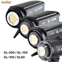 Godox светодиодный видео светильник SL-60W SL-100W SL-150W SL-200W 5600K видео светильник непрерывного светильник на креплении Bowens для видеосъемки в студии Запись