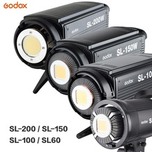 Godox LED Video Light SL-60W SL-100W SL-150W SL-200W 5600K Video Light Continuous Light Bowens Mount for Studio Video Recording цены онлайн
