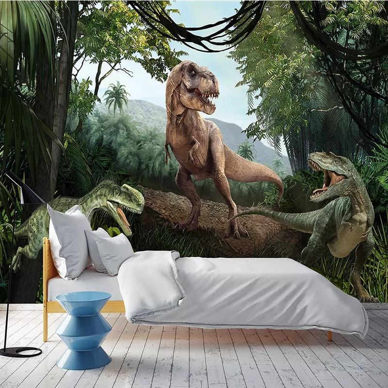 Custom Photo Wallpaper 3D Jurassic Dinosaur Wall Mural Restaurant Bedroom Living Room Sofa Background Waterproof Wallpaper Roll