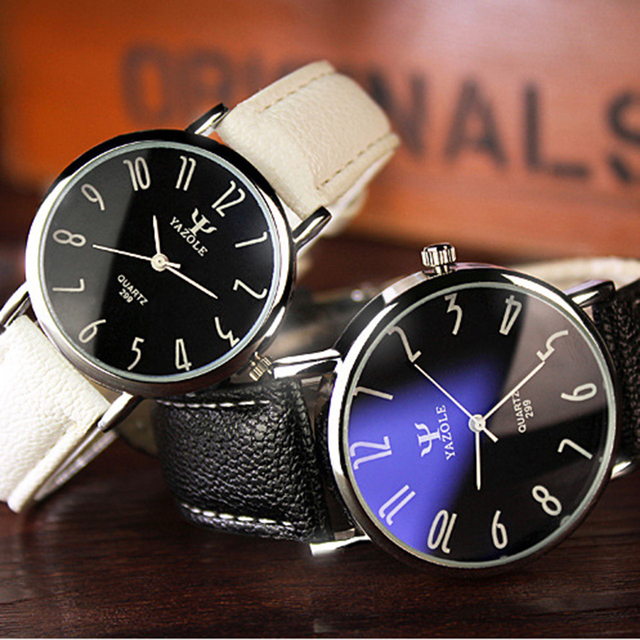 Men Casual Business Leather Strap Watch 1