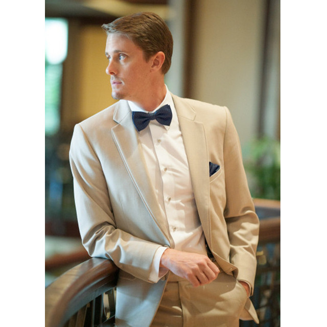 7cc6a6e042fad Champagne Tan Men Suit Casual Blazer Wedding Suits for Men Slim Fit Skinny  2 Piece Wedding Prom Suits (Jacket+Pants) G356