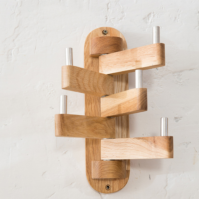 products coat en wooden rack mounted by collection b wall gazzda ena
