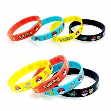 Pokemon Go Silicone Wristband Bracelet Pikachu Parents Child Family Baby Party Gifts Soft plastic toys Game Circlet Bangles NEW(China)