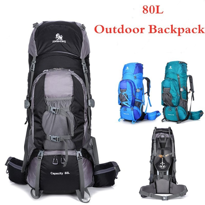 80L randonnée sac à dos grande capacité hommes femmes équitation voyage en plein air sac à bagages Camping escalade résistant à l'eau sport sac à dos